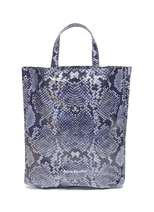 Main View - Click To Enlarge - ACNE STUDIOS - Snake print coated cotton tote bag
