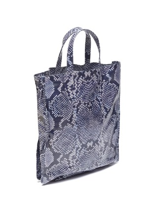 Figure View - Click To Enlarge - ACNE STUDIOS - Snake print coated cotton tote bag
