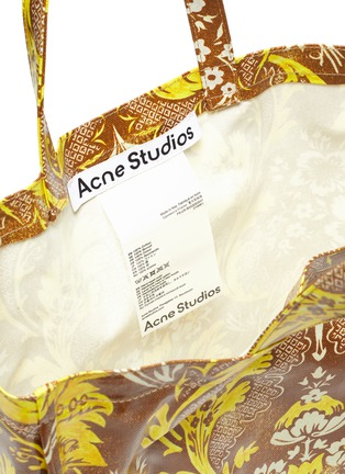 Detail View - Click To Enlarge - ACNE STUDIOS - Baroque PRINT COATED COTTON TOTE BAG