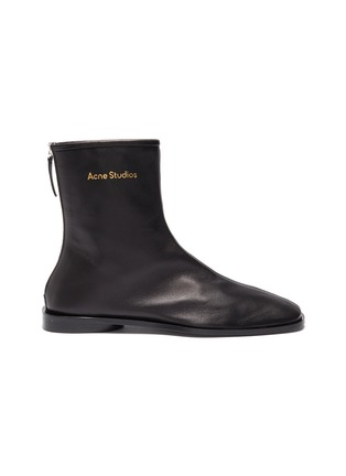 Main View - Click To Enlarge - ACNE STUDIOS - Square toe leather boots