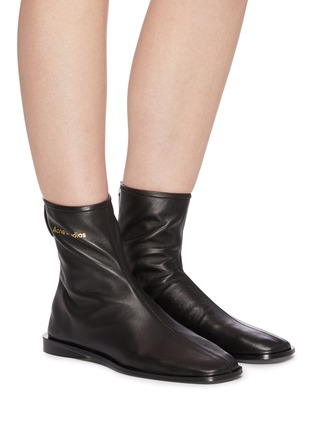Figure View - Click To Enlarge - ACNE STUDIOS - Square toe leather boots