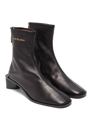 Detail View - Click To Enlarge - ACNE STUDIOS - Square toe leather boots