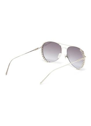 Figure View - Click To Enlarge - FOR ART'S SAKE - Links' chain detail metal frame aviator sunglasses