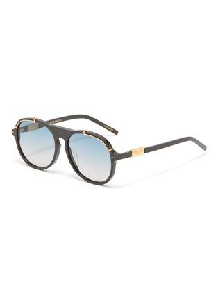 Main View - Click To Enlarge - FOR ART'S SAKE - General' acetate aviator frame sunglasses