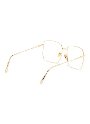 Figure View - Click To Enlarge - SUPER - 'Numero 78' oro square metal frame optical glasses