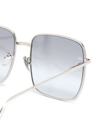 Detail View - Click To Enlarge - SUPER - 'Medea' metal ombre square frame sunglasses