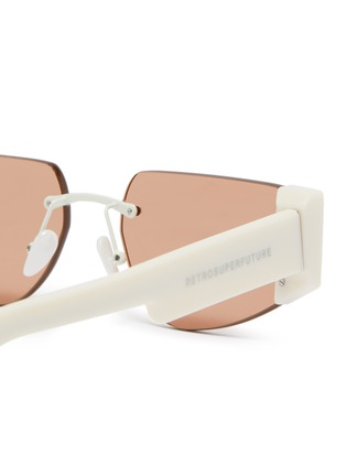 Detail View - Click To Enlarge - SUPER - 'Imun' frameless acetate temple sunglasses