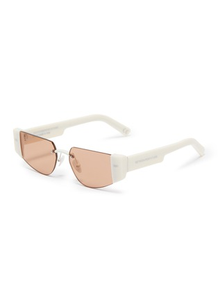 Main View - Click To Enlarge - SUPER - 'Imun' frameless acetate temple sunglasses