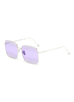 Main View - Click To Enlarge - SUPER - 'Medea' metal ombre square frame sunglasses