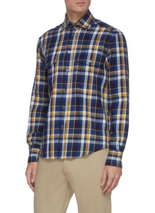 Front View - Click To Enlarge - BARENA - 'Teti Saltaro' plaid shirt