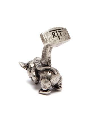 Detail View - Click To Enlarge - TATEOSSIAN - Swarovski eyed mechanical rat cufflinks