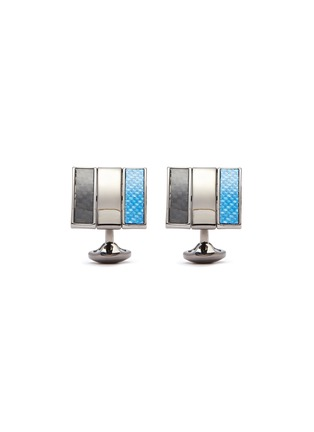 Main View - Click To Enlarge - TATEOSSIAN - Gunmetal plated square twisted cufflinks