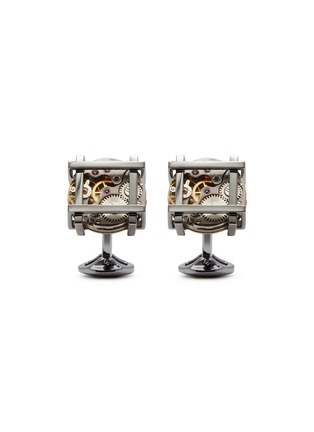 Main View - Click To Enlarge - TATEOSSIAN - Framed vintage skeleton cufflinks