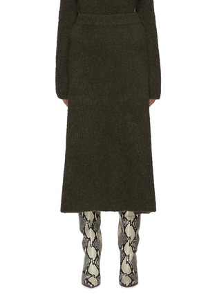 Main View - Click To Enlarge - GABRIELA HEARST - 'Pablo' cashmere boucle knit cashmere skirt