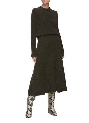 Figure View - Click To Enlarge - GABRIELA HEARST - 'Pablo' cashmere boucle knit cashmere skirt