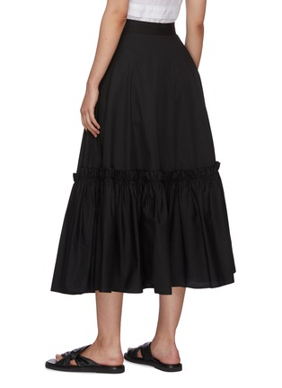 Back View - Click To Enlarge - ROSETTA GETTY - Gathered hem wrap skirt