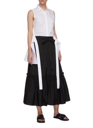 Figure View - Click To Enlarge - ROSETTA GETTY - Gathered hem wrap skirt