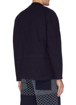 Back View - Click To Enlarge - FDMTL - Patch pocket cotton haori cardigan