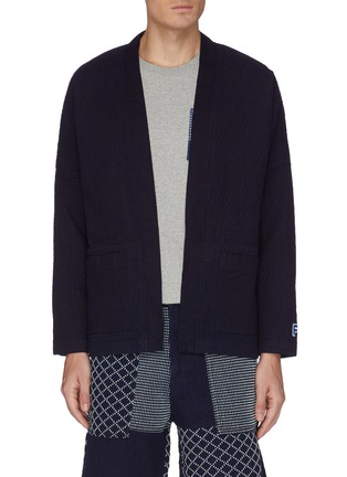 Main View - Click To Enlarge - FDMTL - Patch pocket cotton haori cardigan