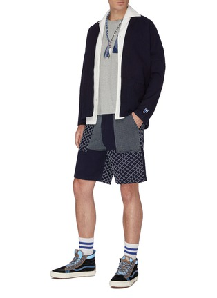 Figure View - Click To Enlarge - FDMTL - Patch pocket cotton haori cardigan