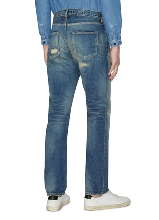 Back View - Click To Enlarge - FDMTL - 'CS71' ripped and repaired boro patch jeans
