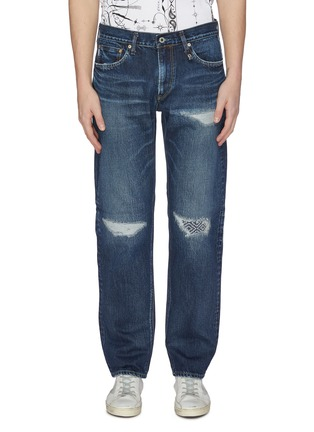 Main View - Click To Enlarge - FDMTL - 'CS70' ripped and repaired boro patch jeans