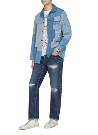Figure View - Click To Enlarge - FDMTL - 'CS70' ripped and repaired boro patch jeans
