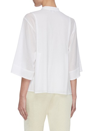 Back View - Click To Enlarge - VINCE - Panelled mandarin collar top