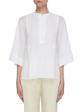 Main View - Click To Enlarge - VINCE - Panelled mandarin collar top