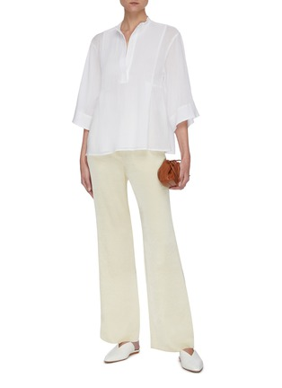 Figure View - Click To Enlarge - VINCE - Panelled mandarin collar top