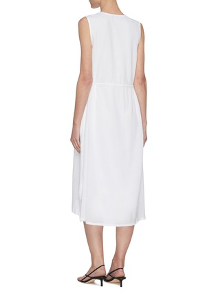 Back View - Click To Enlarge - VINCE - V neck sleeveless dress