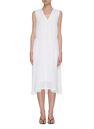 Main View - Click To Enlarge - VINCE - V neck sleeveless dress