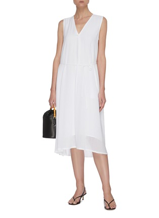 Figure View - Click To Enlarge - VINCE - V neck sleeveless dress