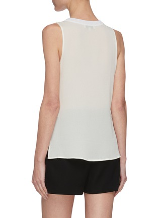 Back View - Click To Enlarge - VINCE - Textured rib collar sleeveless top