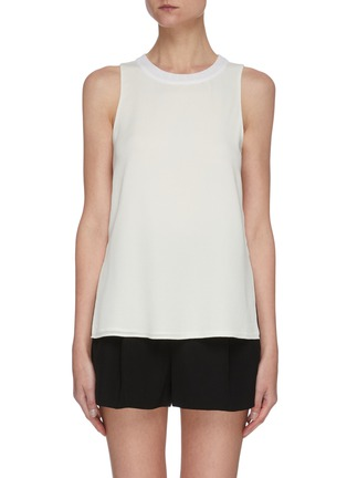 Main View - Click To Enlarge - VINCE - Textured rib collar sleeveless top