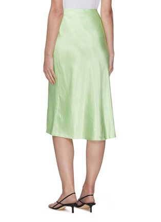 Back View - Click To Enlarge - VINCE - Satin slip midi skirt