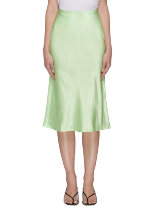 Main View - Click To Enlarge - VINCE - Satin slip midi skirt