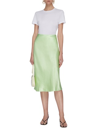 Figure View - Click To Enlarge - VINCE - Satin slip midi skirt