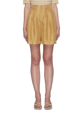Main View - Click To Enlarge - VINCE - High waist silk shorts