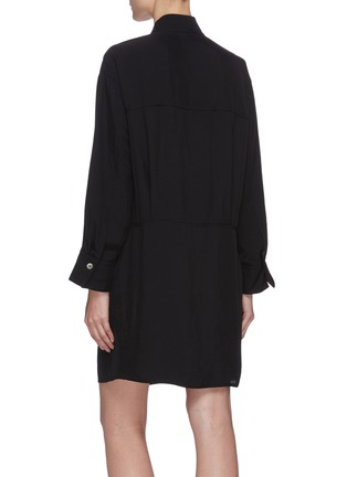 Back View - Click To Enlarge - VINCE - Flare sleeve utility shirt dress
