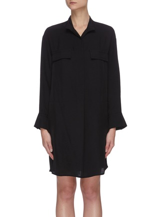 Main View - Click To Enlarge - VINCE - Flare sleeve utility shirt dress