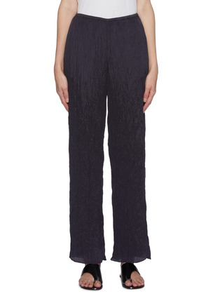 Main View - Click To Enlarge - VINCE - Hammered satin wide leg lounge pants