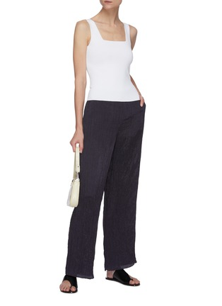 Figure View - Click To Enlarge - VINCE - Hammered satin wide leg lounge pants