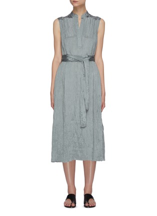Main View - Click To Enlarge - VINCE - Hammered satin popover midi dress