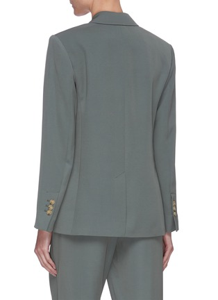 Back View - Click To Enlarge - VINCE - Peak lapel double breasted blazer