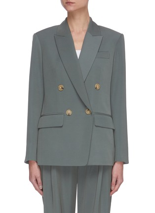 Main View - Click To Enlarge - VINCE - Peak lapel double breasted blazer