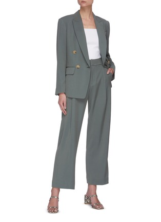 Figure View - Click To Enlarge - VINCE - Peak lapel double breasted blazer