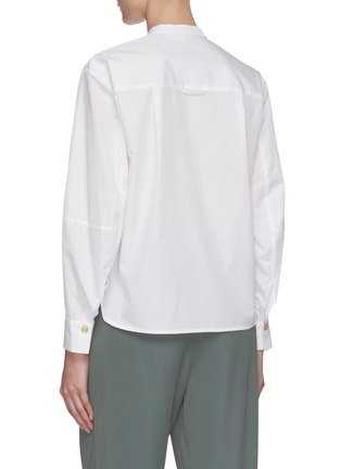 Back View - Click To Enlarge - VINCE - Sculptural sleeve cotton shirt
