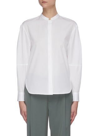 Main View - Click To Enlarge - VINCE - Sculptural sleeve cotton shirt