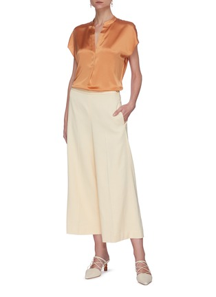 Figure View - Click To Enlarge - VINCE - Wide leg crop culottes